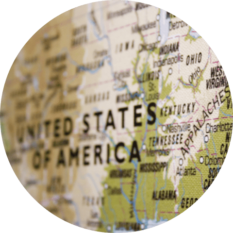 Background showing USA map with focus on eastern part